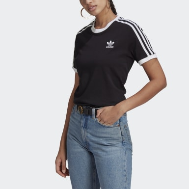 T-shirt Adicolor Classics 3-Stripes Noir Femmes Originals