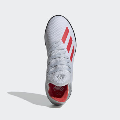 Zapatos de Fútbol X 19.3 Césped Artificial Plateado Niño Fútbol