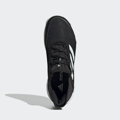 Children Tennis Black Adizero Club Shoes