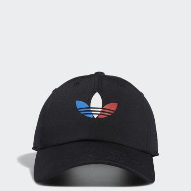 Men's Originals Black Tri-Color Strap-Back Hat