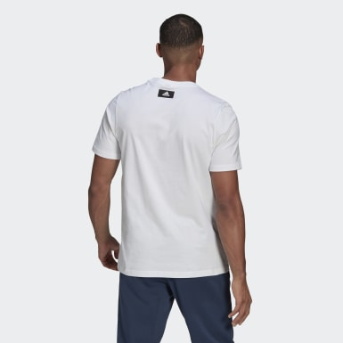 T-shirt adidas Sportswear Graphic blanc Hommes Athletics