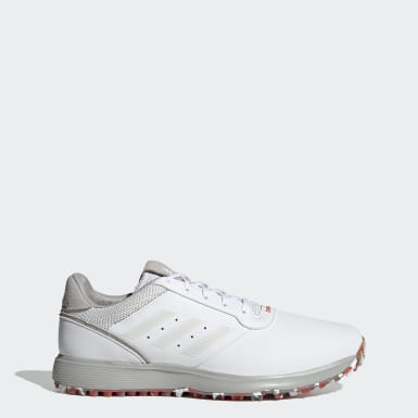Sapatos de Golfe em Pele sem Bicos S2G Branco Golfe