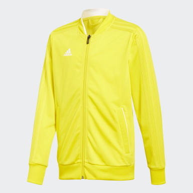 Kids Football Yellow Condivo 18 Jacket