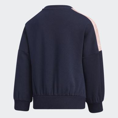 Sweatshirt de Malha Azul Raparigas Treino