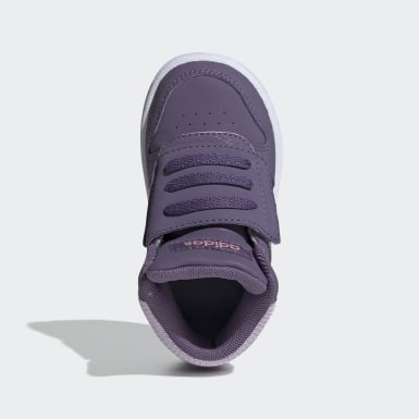 Kids Basketball Purple Hoops 2.0 Mid Shoes