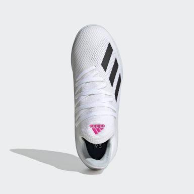 Chuteira X 19.3 Futsal Branco Meninos Futebol