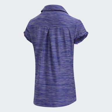 Youth Golf Purple Space-Dyed Polo Shirt