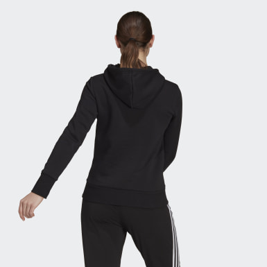 Women Sport Inspired Black Badge of Sport Pullover Fleece Hoodie