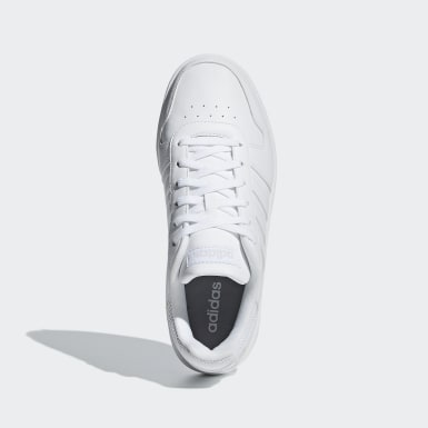 Women Walking White Hoops 2.0 Shoes