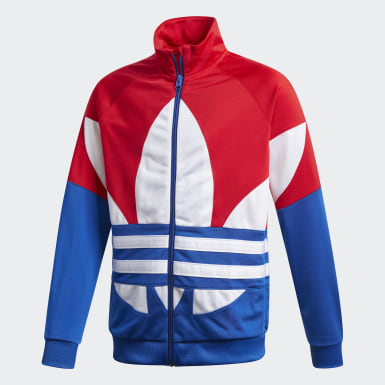 Youth Originals Red Large Trefoil Track Top