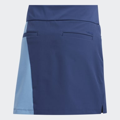 Women Golf Blue Colorblock Skort