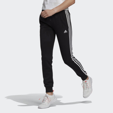 Women Sport Inspired Black Essentials French Terry 3-Stripes Pants