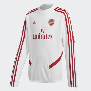 Børn Fodbold Hvid Arsenal Top træningstrøje