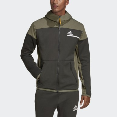 Heren Athletics Groen adidas Z.N.E. AEROREADY Sweatshirt met Rits