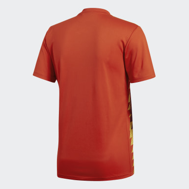 Men Football Red Spain Home Jersey