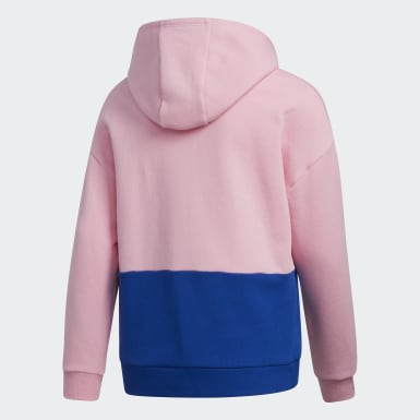 Youth Training Pink Colorblock Hoodie