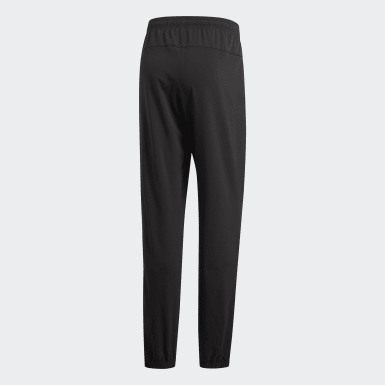 Men Training Black Essentials Plain Stanford Pants