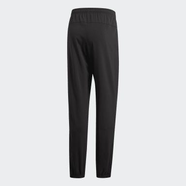 Men Training Black Essentials Plain Stanford Trousers