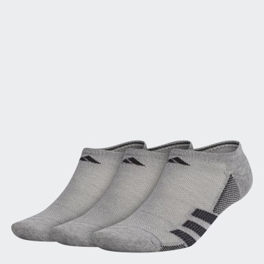 Men's Training Grey Superlite Stripe 2 No-Show Socks 3 Pairs