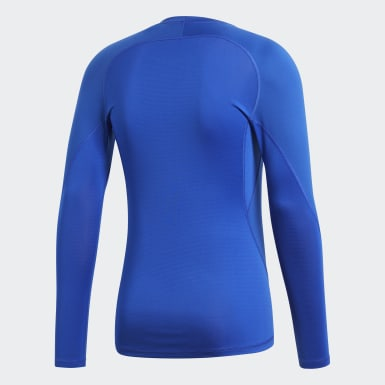 Camiseta Alphaskin Sport Azul Hombre Fútbol