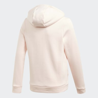 Felpa con cappuccio Must Haves Winter Logo Full-Zip Rosa Ragazza Training
