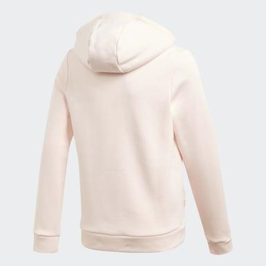 Dievčatá Tréning ružová Mikina skapucňou Must Haves Winter Logo Full-Zip