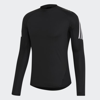 Men HIIT Black Alphaskin Sport+ 3-Stripes Tee