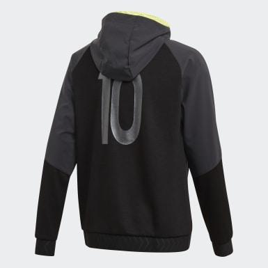 Youth Training Black Messi Full-Zip Hoodie