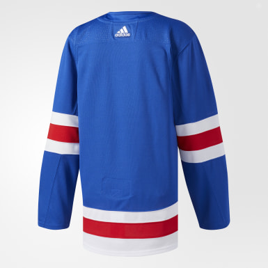 Maillot Rangers Domicile Authentique Pro bleu Hockey