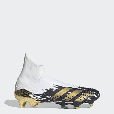 Bota de fútbol Predator Mutator 20+ césped natural húmedo Blanco Fútbol