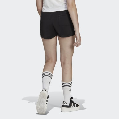 Shorts 3 Rayas - Pretina Media Negro Mujer Originals