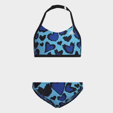 Dievčatá Plávanie Bikiny Girls Heart Graphic
