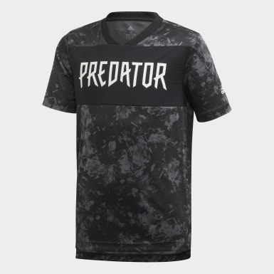 Youth 8-16 Years Training Black Predator Allover Print Jersey