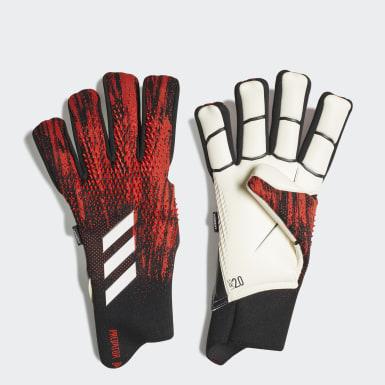 Fußball Predator 20 Pro Fingersave Torwarthandschuhe Schwarz