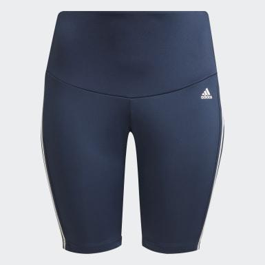 Women's Softball Blue Designed 2 Move High-Rise Sport Short Tights (Plus Size)