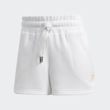 Short Sweat Fleece Bianco Donna adidas by Stella McCartney