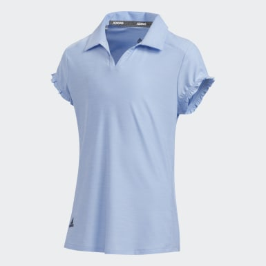 Girls Golf Blue Space-Dyed Polo Shirt