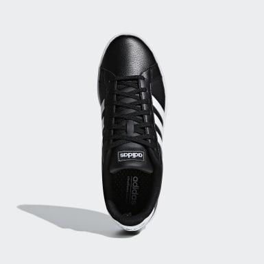 Walking Black Grand Court Shoes