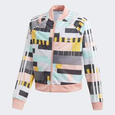 Youth Originals Multicolor Cropped SST Track Jacket