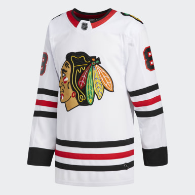 Men Hockey White Blackhawks Kane Away Authentic Pro Jersey