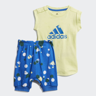 Boys Training Yellow Style Summer Set
