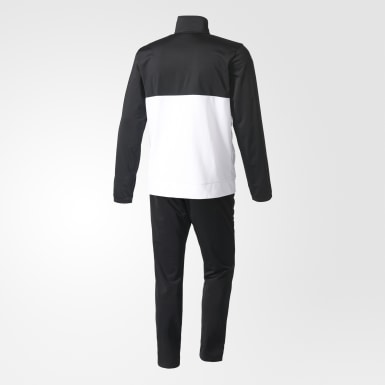 Men Training Black Back 2 Basics 3-Stripes Track Suit