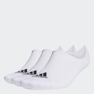 ผู้ชาย กอล์ฟ สีขาว ถุงเท้าโลว์คัท (3 คู่)