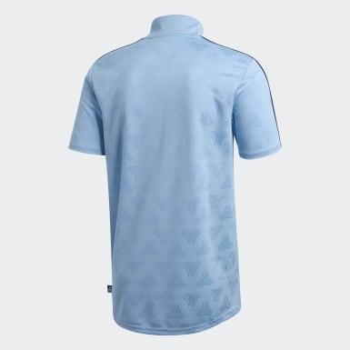 Men Football Blue Tango Jacquard Jersey