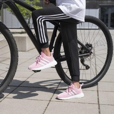 Mädchen Athletics Essentials 3-Streifen Hose Schwarz