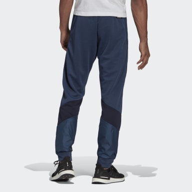 Herr Athletics Blå adidas Sportswear Fabric Block Pants