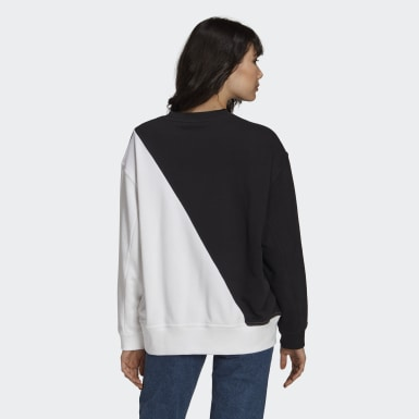 Women Originals Black Adicolor Sliced Trefoil Sweatshirt