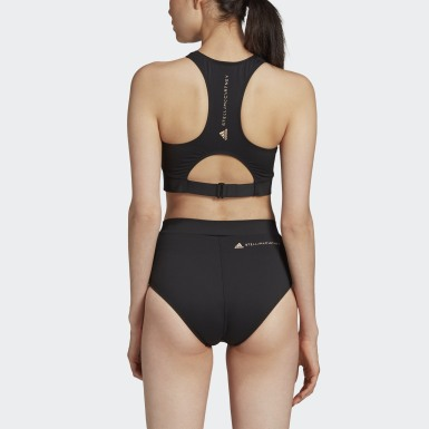 Women adidas by Stella McCartney Black TRUEPURPOSE Bikini Top
