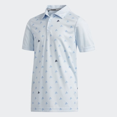 Boys Golf Blue Printed Polo Shirt