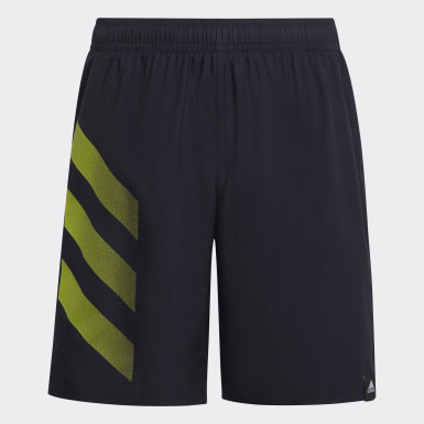 Jongens Zwemmen Blauw Bold 3-Stripes Zwemshort